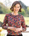 Cassandra Patterned Pure Cotton Blouson Top