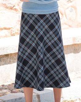 Strome Multi Coloured Wool Blend Skirt