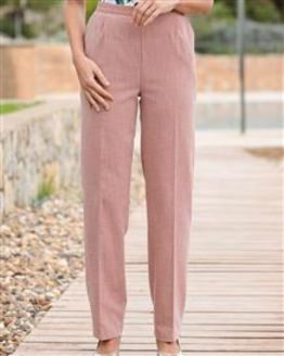Polly Coral Pink Trousers