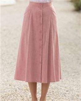 Polly Coral Pink Skirt