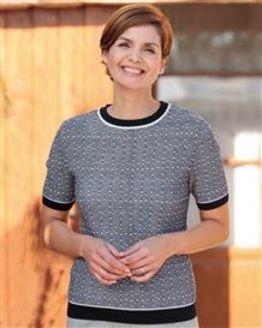 Claudia Wool Mix Short Sleeve Sweater