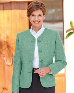 Corsica Apple Green Pure Shetland Wool Jacket