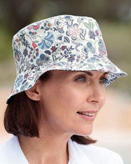 Liberty Print Floral Reversible Hat