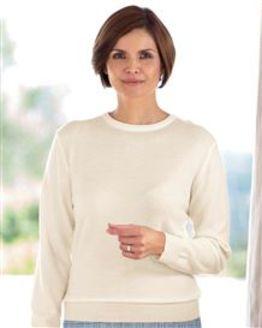 Merino Wool Cream Crew Neck Sweater