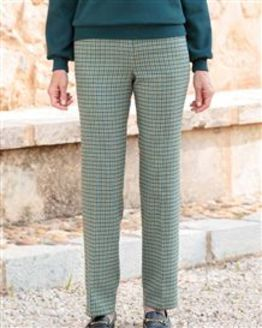 Hexham Checked Wool Blend Trousers