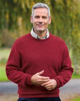 Lambswool Crew Neck Sweater  Mens