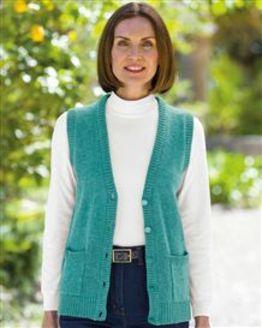 Shetland Aqua Waistcoat