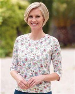 Tamara Multi Coloured Pure Silky Cotton Blouson Top