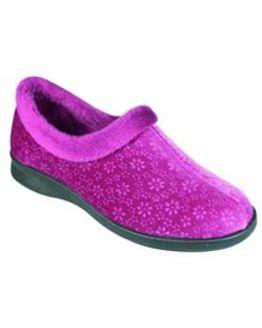 DB Wider Fit Fur Trim House Shoe