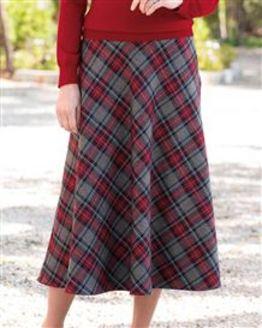 Lanercost Wool Mix Checked Skirt