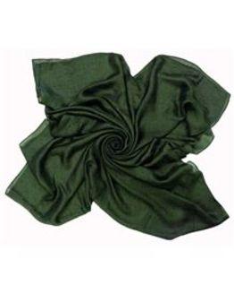 Silk Mix Green Scarf