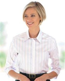 Sharon Striped Pure Cotton Blouse