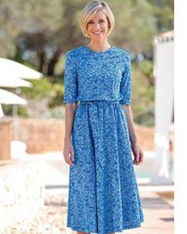Frances Floral Pure Silky Cotton Dress