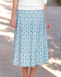 Laura Floral Pure Silky Cotton Skirt