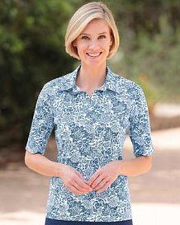 Elsa Multi Coloured Pure Cotton Polo