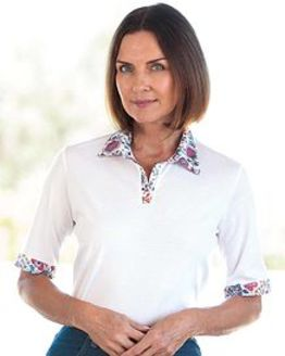 Sadie Pure Cotton Trimmed Short Sleeve Polo