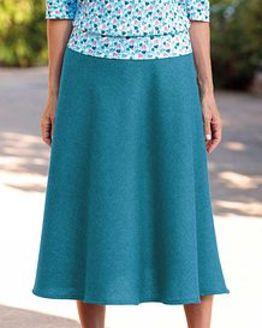Naples Teal Pure Shetland Wool Tweed Skirt