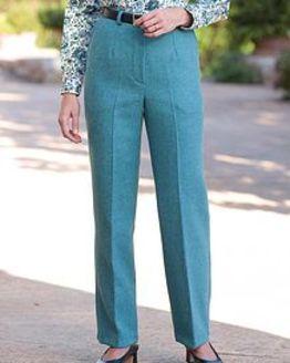 Naples Teal Pure Wool Tweed Trousers