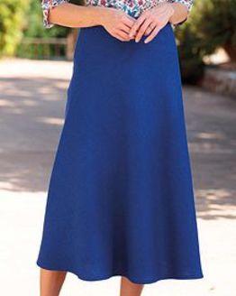Sicily Cobalt Pure Shetland Wool Tweed Skirt