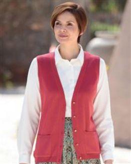 Merino Rosehip Waistcoat