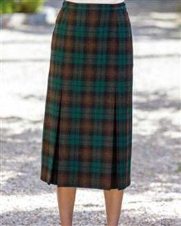 Wadebridge Wool Mix Pleated Skirt