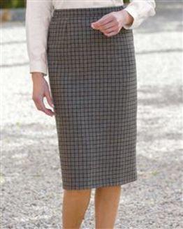 Newquay Wool Mix Straight Skirt