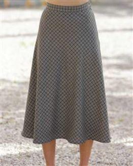 Newquay Wool Mix Bias Skirt
