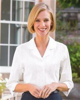 Gail Cotton Rich White Blouse