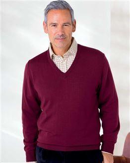 Merino V neck Sweater  Mens