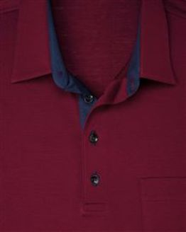 Burgundy Pure Cotton Short Sleeve Polo Shirt