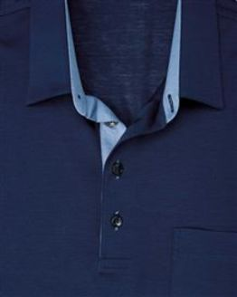 Navy Pure Cotton Short Sleeve Polo Shirt