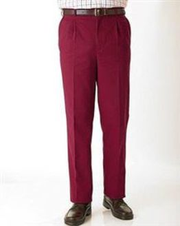 Red Cotton Chino Trousers