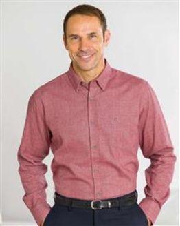 Brushed Cotton Brick Red Shirt