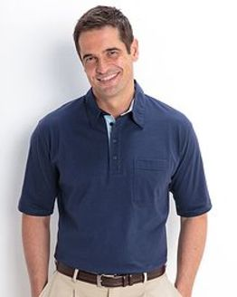 Navy Cotton Polo Shirt