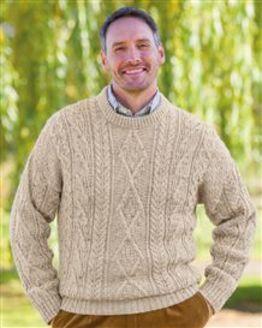 Oatmeal Aran Sweater