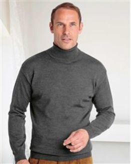Merino Roll Neck Sweater  Mens