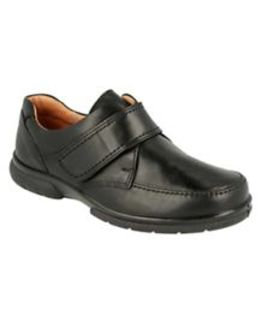 DB Wider Fit Black Velcro Fastening Shoe