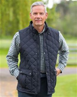 Ashby Navy Body Warmer Quilted Gilet