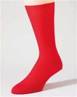 Pure Wool Red Ankle Socks