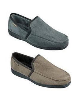 Goodyear Mens Fabric Slippers