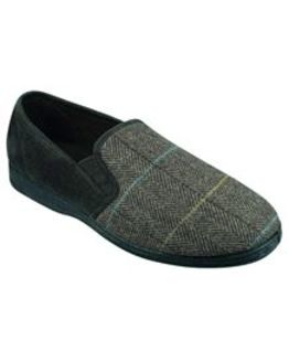 Goodyear Mens Checked Slipper