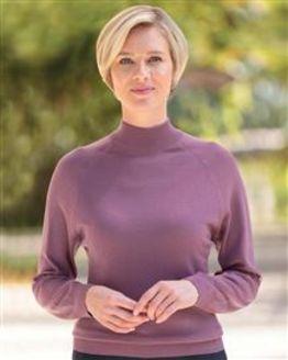 Merino Wool Grape Turtle Neck Sweater