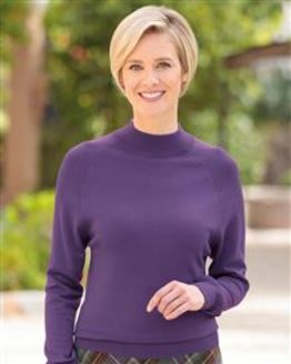 Merino Wool Violet Turtle Neck Sweater