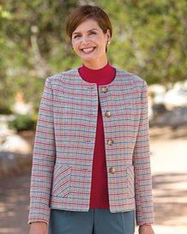 Lisbon Pure Cotton Checked Jacket