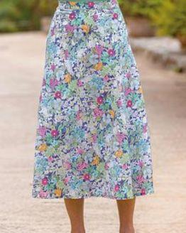 Penelope Floral Pure Cotton Skirt