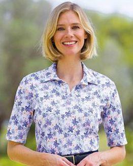 Melissa Multi Coloured Pure Cotton Polo