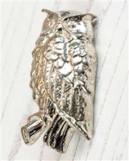 Owl Pewter Brooch
