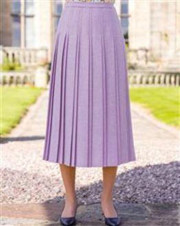 Alicante Pure Shetland Wool Pleated Skirt
