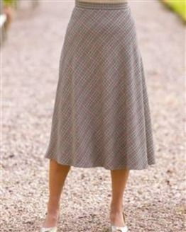 Murcia Wool Blend Checked Skirt