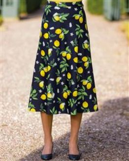 Camille Cotton Patterned Skirt